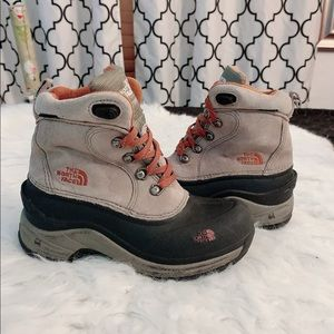 The North Face waterproof boots youth size 1